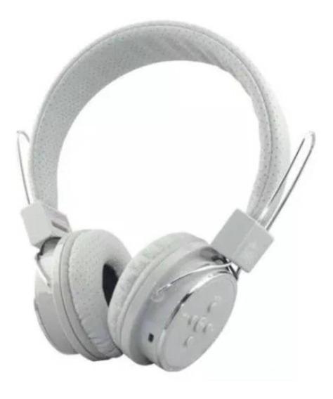 Fone De Ouvido Headphone Bluetooth 3.0 Sd P2 Fm Branco