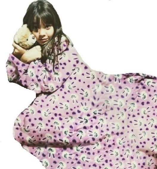 Cobertor Com Mangas - Kit 1 Adulto E 2 Infantis