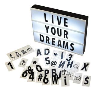 Letrero Led Con 96 Letras Numero Y Simbolos Cinebox
