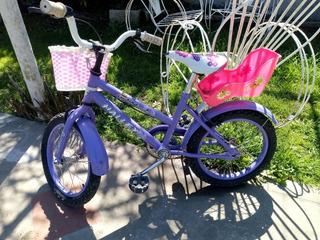 Bicicleta Rodado 16 Nena Niña Halley 19060 Canasto