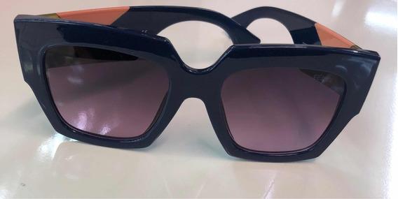 Lindo Óculos Quadradro Retro Azul