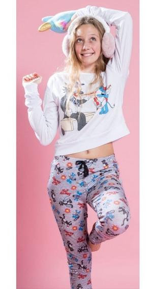 Pijamas Largos Invierno Mujer Teen Juvenil Stich Simpsons