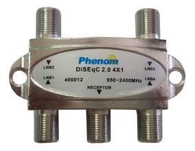5 X Chave Diseqc 4x1 2.0 Phenom - A Melhor Do Mercado Livre