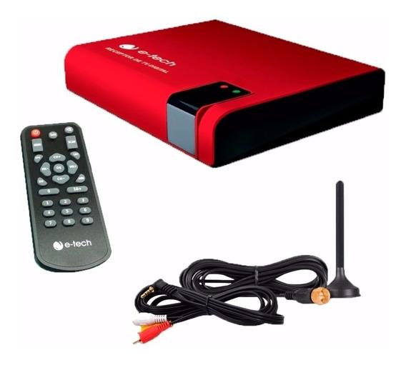 Receptor Tv Digital Só Canais Abertos + Cabo 208bt+ Camera