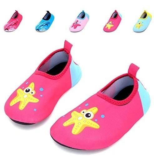 Zapatos Playa Alberca Baño Niño Ballena Estrella Rosa Giotto