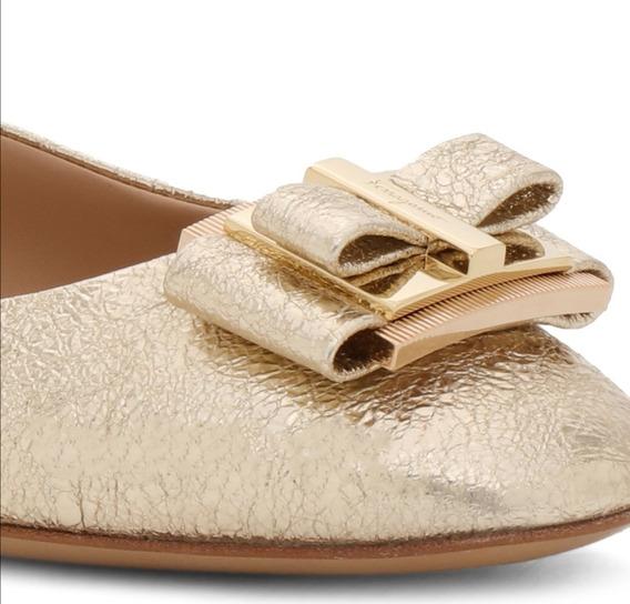 Zapatos Flat Salvatore Ferragamo Original Nuevo De Piel Dama