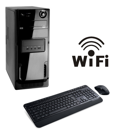 Pc Desktop Montada 8gb Ram 320gb Win10 Programas E Brinde