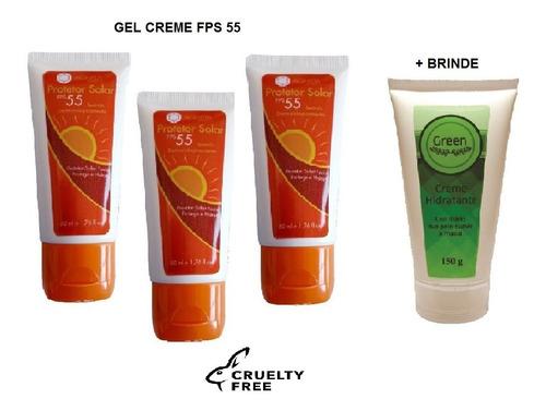 Imagem 1 de 2 de Protetor Solar Gel Creme Fps 55 + Brinde