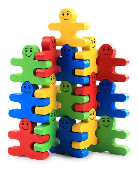 Blocos De Construção De Madeira Empilhando Brinquedos Jogo P