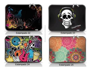 Funda Notebook Cdtek 12-14-15.6-17 Neoprene Varios Diseños