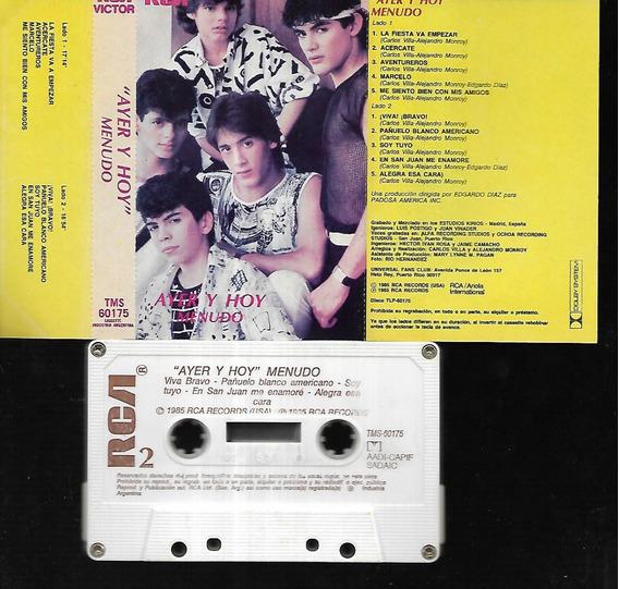 Menudo Album Ayer Y Hoy Sello Rca Records 1985 Cassette