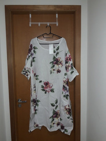 Vestido Curto Floral De Linho
