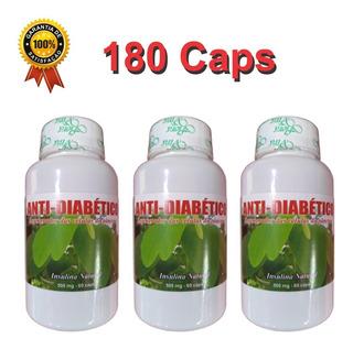 Tratamento Obesidade Anti Diabete 180 Capsulas 100% Natural