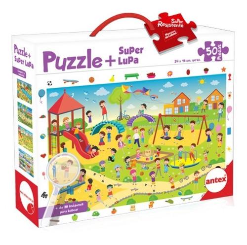 Puzzle 50 Piezas Búsqueda Con Lupa Rompecabezas 4 Mod Antex