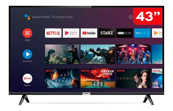Smart Tv 43 Led Hd Tcl 43s6500fs Android E Comando De Voz