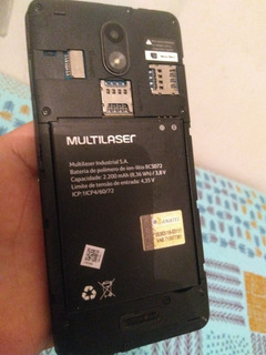 Celular Multilaser Ms50g Modelo S072 Peça Display Queimado