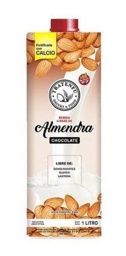 Imagen 1 de 5 de Leche De Almendras Chocolate Tratenfu X 1lts