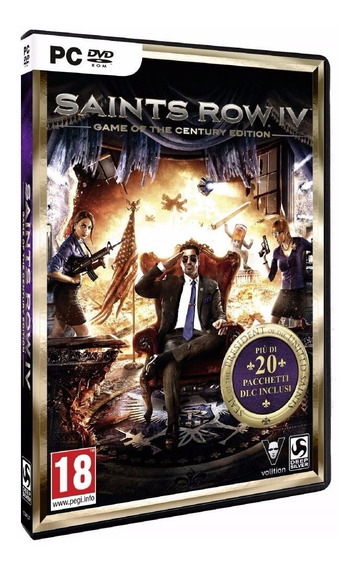 Saints Row 4: Game Of The Century Edition Pc Dvd Frete 8 R$