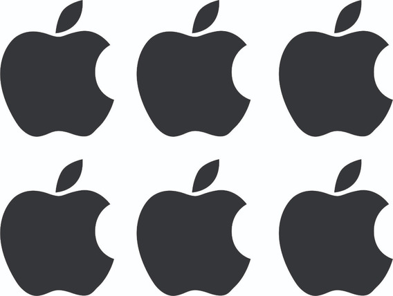 6 Adesivos Apple iPhone Automotivo Carro Moto - Frete Grátis