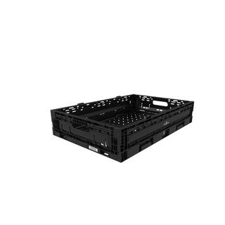 Caja De Plastico Abatible Negro 6411 11cms Altura Promo