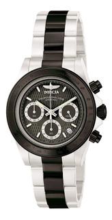 Reloj Invicta Racing,de Hombre,acero Sumergible,fondo Negro.