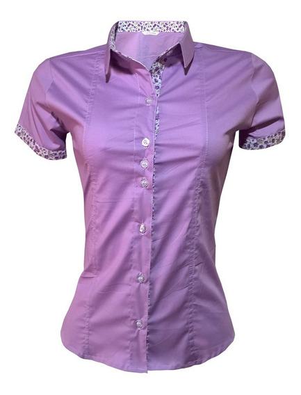 Blusa Social Feminina Kit Com 4 Unidades