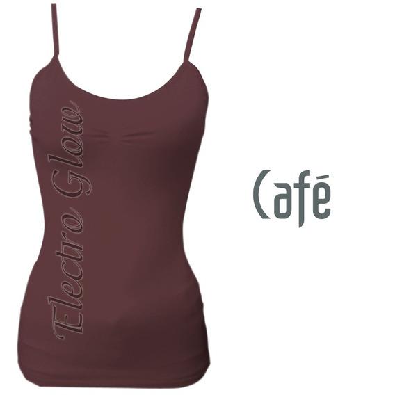 Blusa De Tirantes Café Jera Original Mayoreo