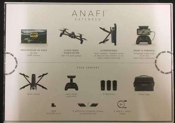 Drone Parrot Anafi 4k Hdr Lacrado ( 3 Baterias E Case)