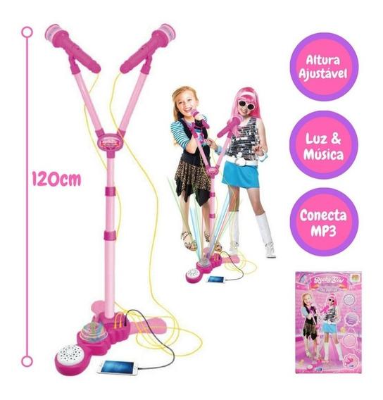 Microfone Infantil Duplo C/ Amplificador De Som Super Voice