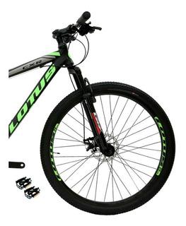 Bicicleta Mountain Bike Lotus Cxr Aro 29 Quadro 17 Preta/ver