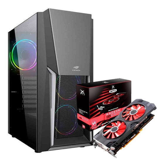 Pc Gamer Intel Xeon(=i7 ) Ssd 240gb Ram 16gb Gpu Rx 570 4gb