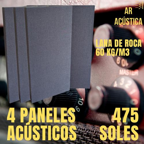 Pack 4 Paneles Acusticos Lana De Roca De 60 (1.20 X 60)
