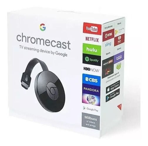 Chromecast 2 Cromecast Google Smart Tv Hdmi 1080p Original