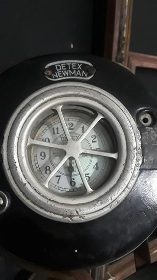 Reloj Antiguo De Vigilante. Sereno Marca Detex Newman