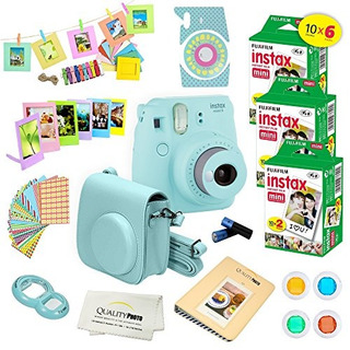 Fujifilm Instax Mini 9 Instant Camera Ice Blue W Fujifilm In