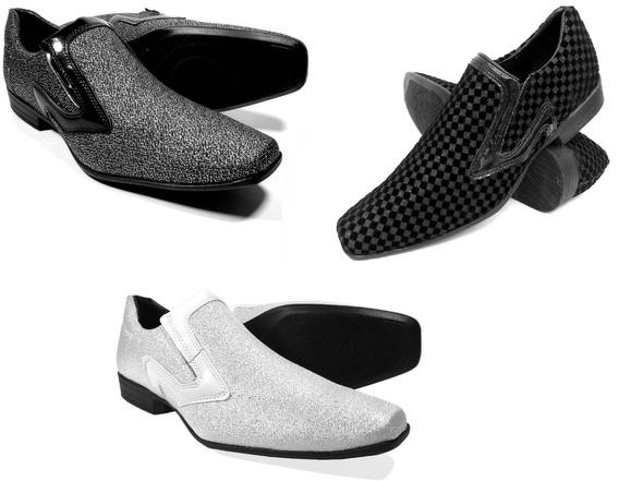 Sapato Kit 3 Pares Social Masculino Bico Fino Estilo