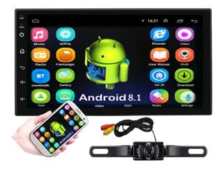 Autoestereo Android 8.1 Wifi Gps Camara Portaplaca Nocturna