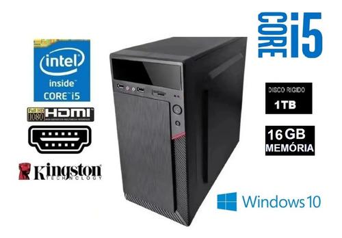 Imagem 1 de 2 de Pc Cpu Computador Intel Core I5 + 1tb + 16gb+ Dvdrw Oferta