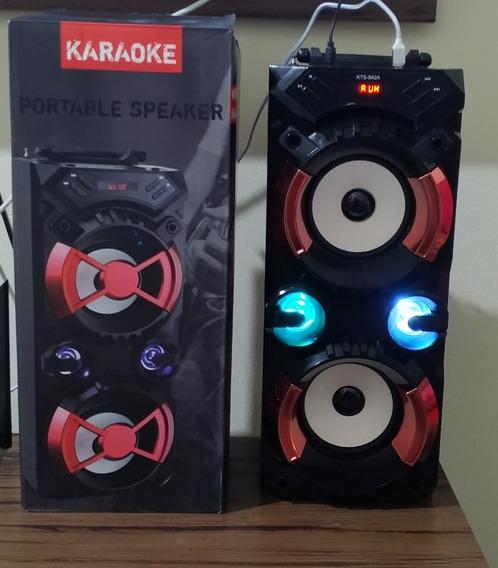 Caixa De Som Com Bluetooth Karaokê