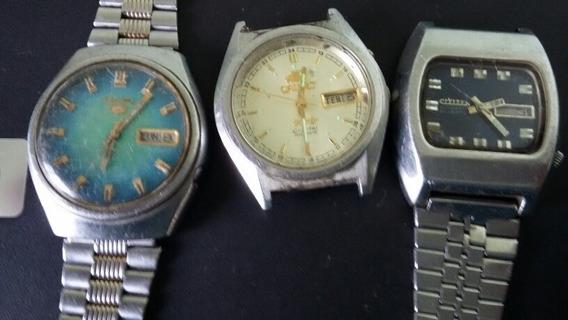 Lote De 3 Relógios Seiko, Orient, Citizen (80x)
