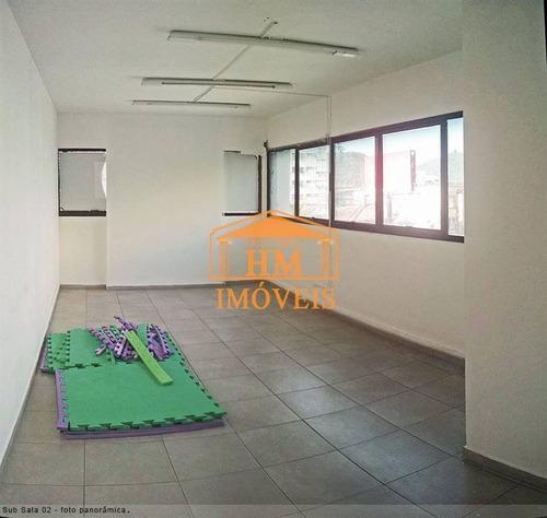 Sala Comercial No Centro De São Vicente  Com Área Útil De 133 M². - Hm3421