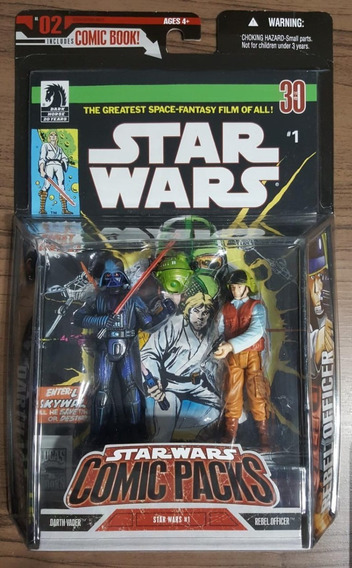 Comic Packs Star Wars # 1 Darth Vader E Rebel Officer Num 02