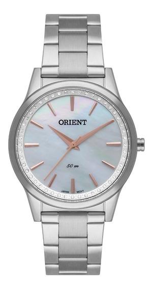 Relógio Orient Feminino Fbss0076 B1sx Prata Madre Perola