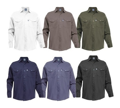 Camisa De Trabajo Ombú Original Grafa Varios Colores 48-60