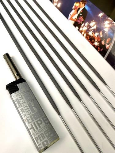 Imagem 1 de 4 de 50 Velas Sparklers 60cm + Brinde 3 Maçarico Casamento 3 Min
