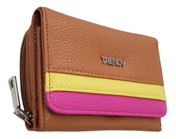 Billetera Mediana Trendy Rebow 100% Original Cuero Pu