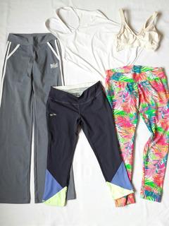 Lote Deportivo Calzas Polera Top Mujer T/s Gimnasio Yoga