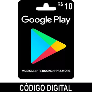Google Play Store Giftcard R$10 Por R$13,99 Leia Descrição