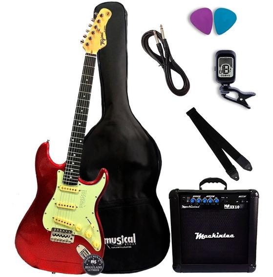 Guitarra Tagima Tg 500 Vermelha + Kit Completo Promoção!