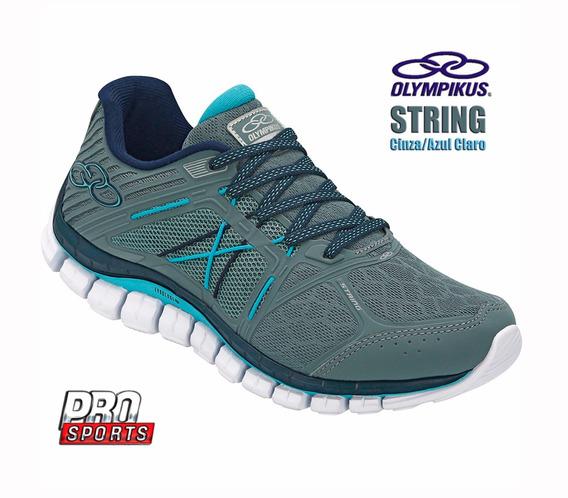 Olympikus Tenis 423 String Steel Celeste - Original - Fv